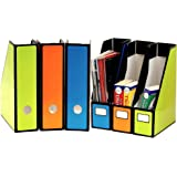 6 Pack - SimpleHouseware Classroom Magazine File Holder Organizer Box