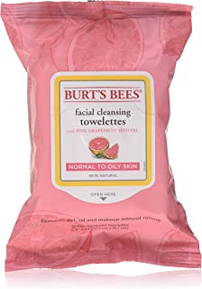 product image for Burt's Bees Facial Cleansing Towelettes, Pink Grapefruit 30 ea (Pack of 2)