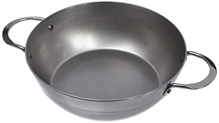 De Buyer Mineral B Element Steel Frying Pan with 2 Handles, Steel ...