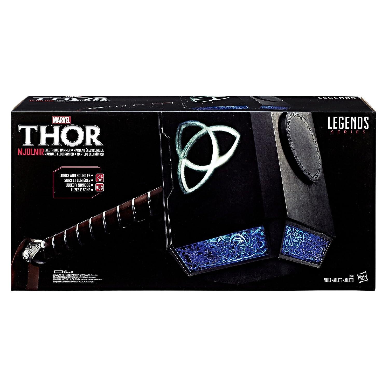 Conhecido Amazon.com: Marvel Legends Series Mjolnir Electronic Hammer: Toys  AE98