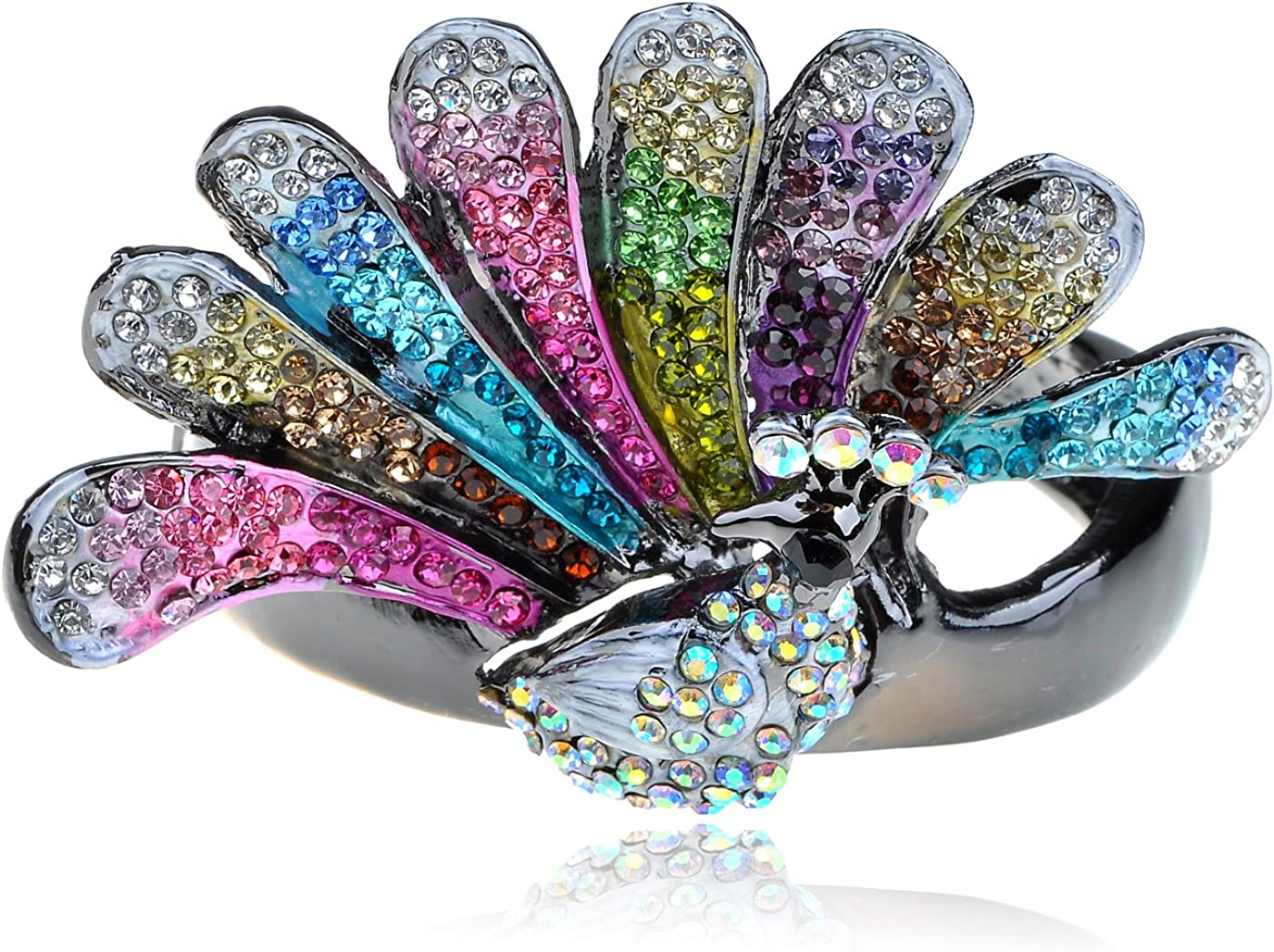 Alilang Vintage Colorful Rainbow Mosaic Crystal Rhinestone Butterfly Insect Wedding Prom Pin Brooch