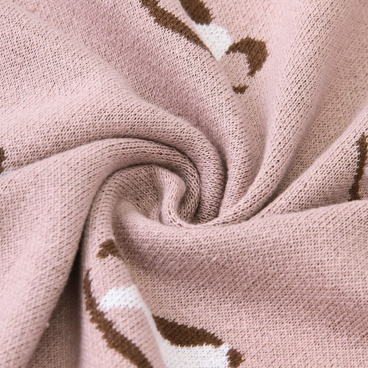 mimixiong 100/% Cotton Knitted Baby Blanket 80 x 100cm for Newborn Baby Coffee