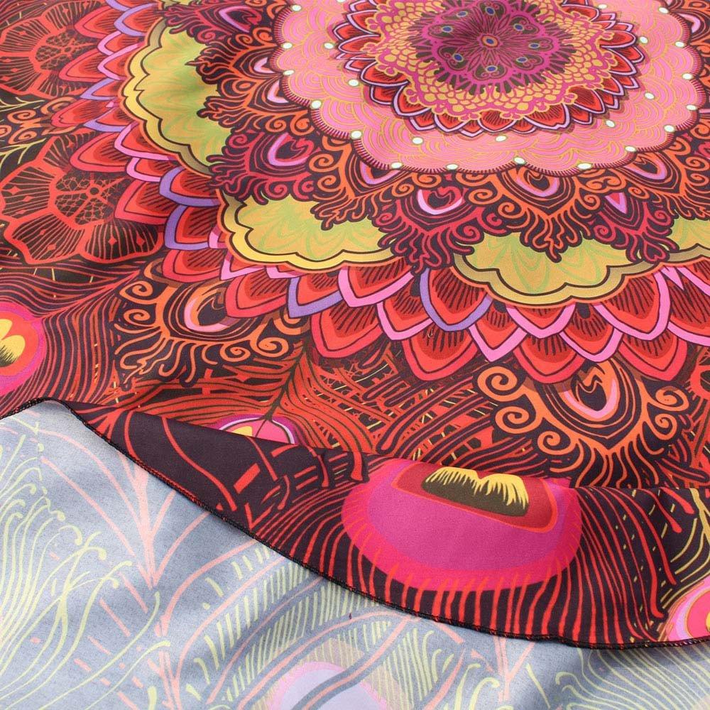 147 * 147cm, Azul MVPKK Toallas de Playa Redondo Pluma de Pavo Real Impreso Toallas de Playa Si Mandala Toallas de Playa Talla Grande Grueso Tapiz de Playa Super Dulce Hippie Estera de Yoga