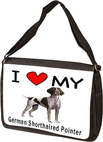 I Love My German Shorthaired Pointer Laptop Bag – Shoulder Bag – Messenger Bag