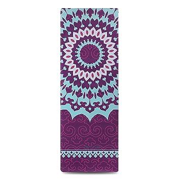 ZEROVIDA Colchoneta de Yoga 5mm Yoga Mat Caucho Natural 100% con Gamuza Ecológica Esterilla de Yoga Profesional Lujoso Antideslizante para Hot Yoga ...
