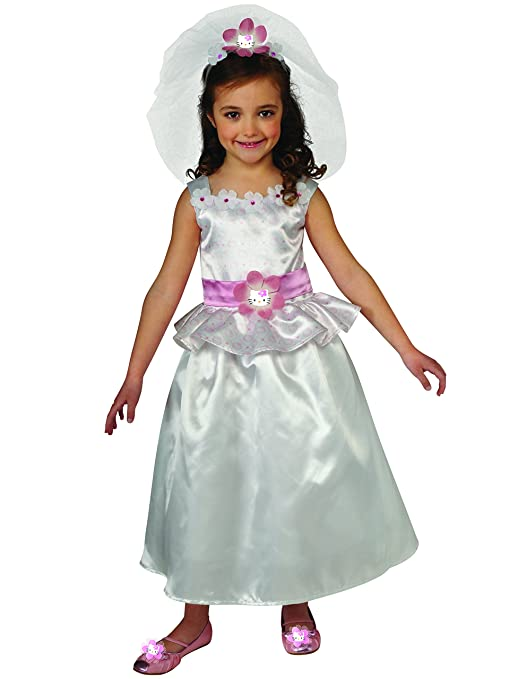 863e4266a Amazon.com: Rubies Hello Kitty Bride Costume, Child Medium: Toys & Games