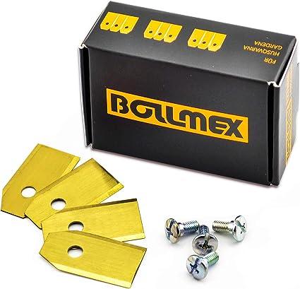 30 cuchillas de titanio Bollmex de 0,75 mm con 30 tornillos, cuchillas de repuesto compatibles con cortacésped Husqvarna Automower Gardena 105 310 315 320 420 430x r40i (duraderas)
