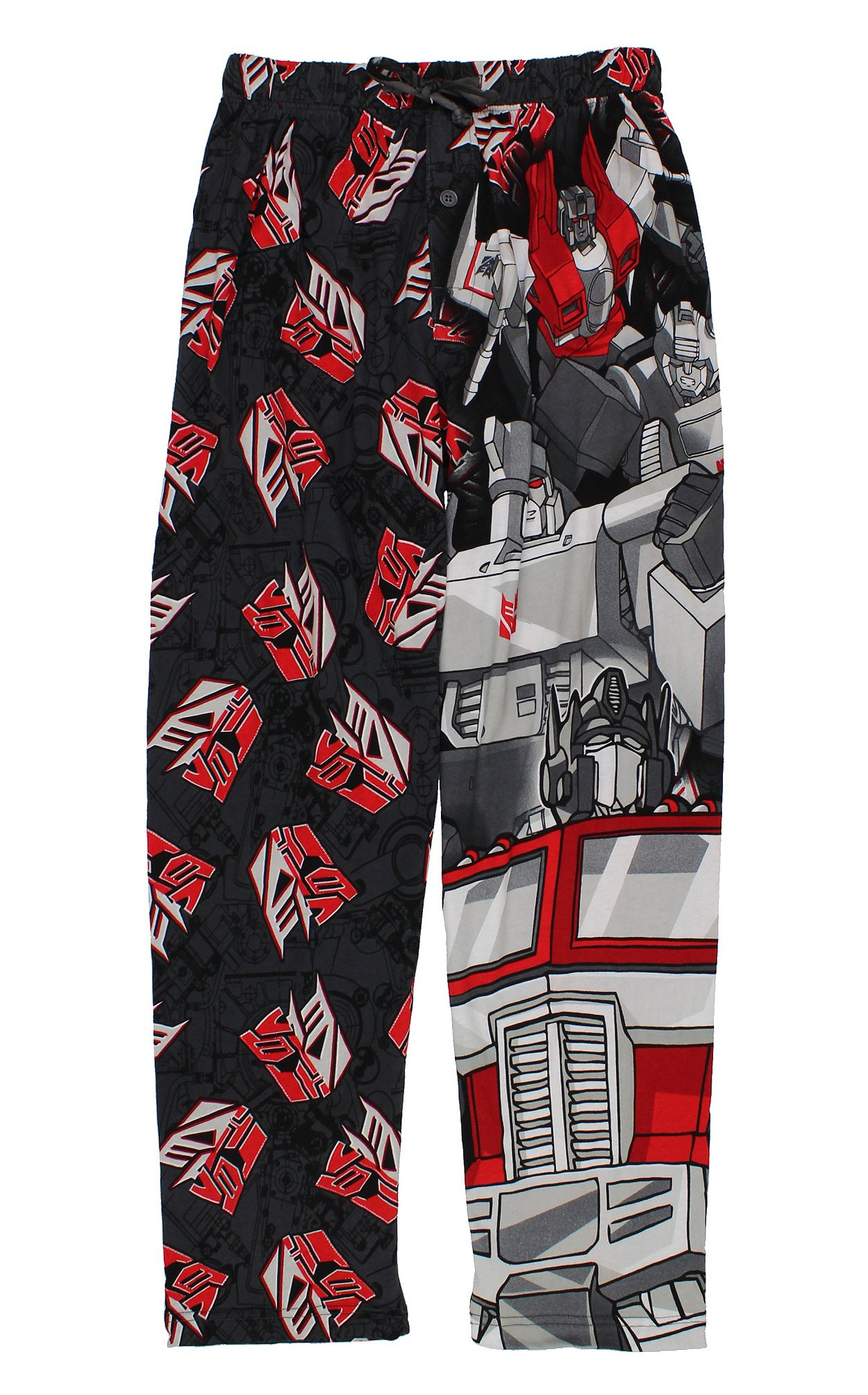 Transformers Mens Lounge Pants (Small, Grey/Red)