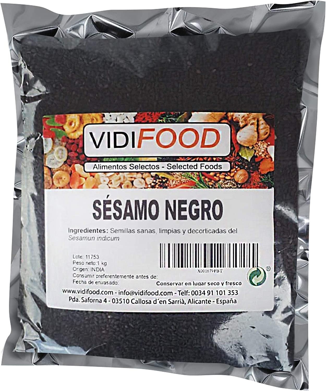 Semillas De Sésamo Negro - 1kg - Condimento Con Sabor A Nueces ...