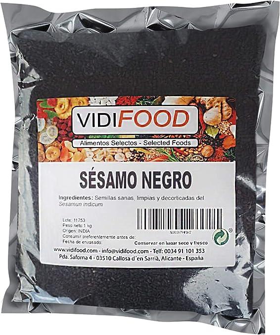 Semillas De Sésamo Negro - 1kg - Condimento Con Sabor A Nueces Para Platos Cetogénicos Y Veganos - Semillas Crujientes Y Sabrosas: Amazon.es: Alimentación y bebidas