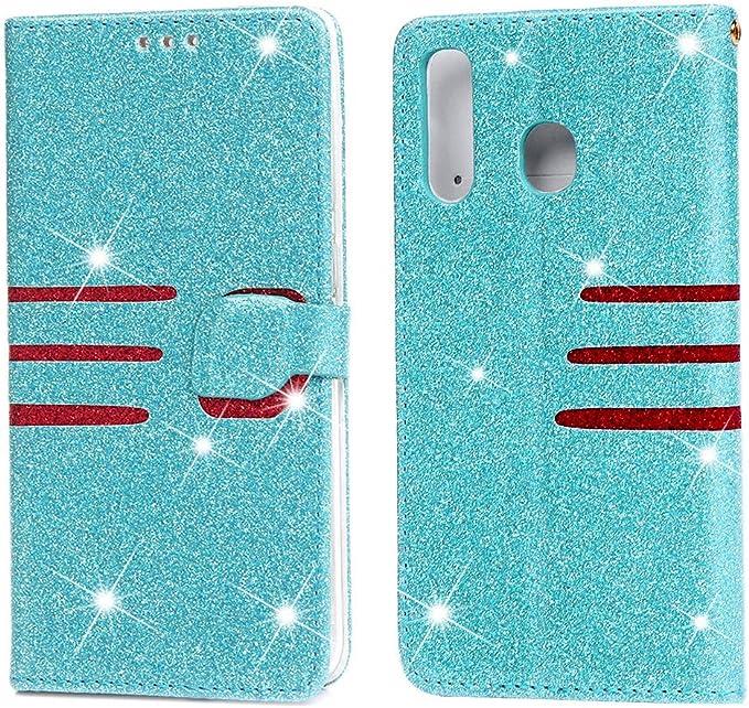Reemplazo para el Estuche para Samsung Galaxy A50 Wallet, Ranuras para Tarjetas de Parachoques con Soporte y Funda de Cuero Bling Glitter para Galaxy A50: Amazon.es: Electrónica