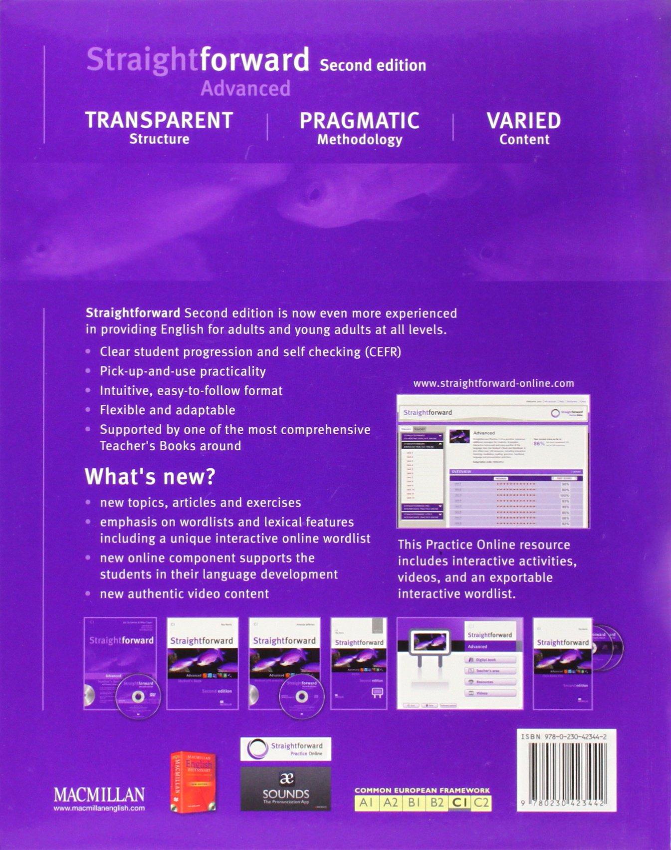 Straightforward 2nd Edition Advanced Level Students Book: Amazon ...