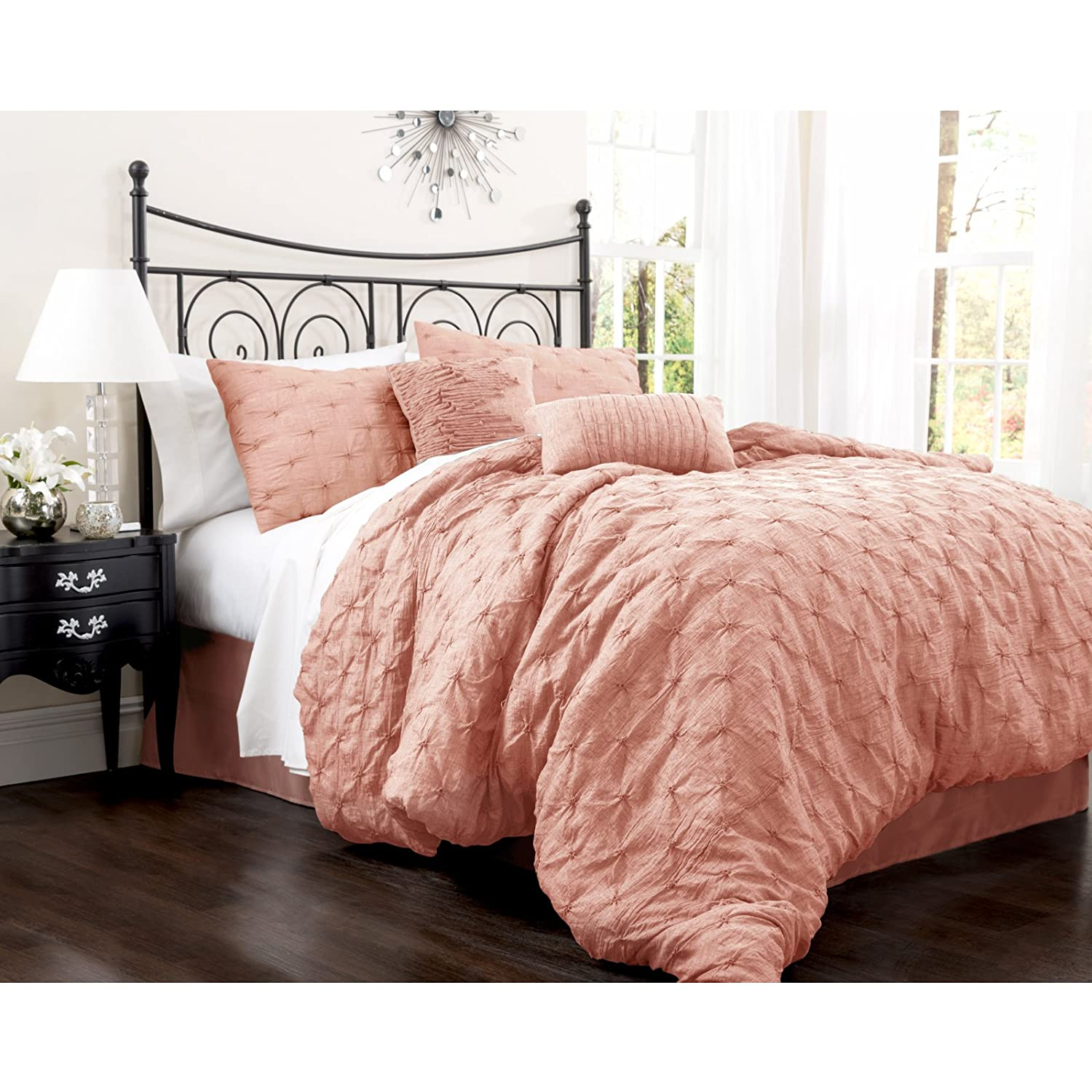 comforter pillow two accent set pillows sheet modern comforters and bedding peach sets colored shams throw