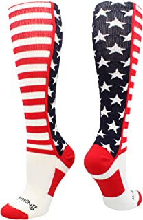 product image for MadSportsStuff USA American Flag Stars and Stripes Over The Calf Socks