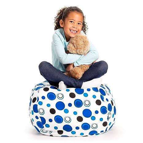 Creative QT Stuffed Animal Storage Bean Bag Chair   Standard Stuff U0027n Sit  Organization For
