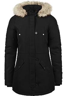 96f9132bb97af Vero Moda Patrice Parka Abrigo Chaqueta De Invierno para Mujer con Cuello  De Piel De Imitación