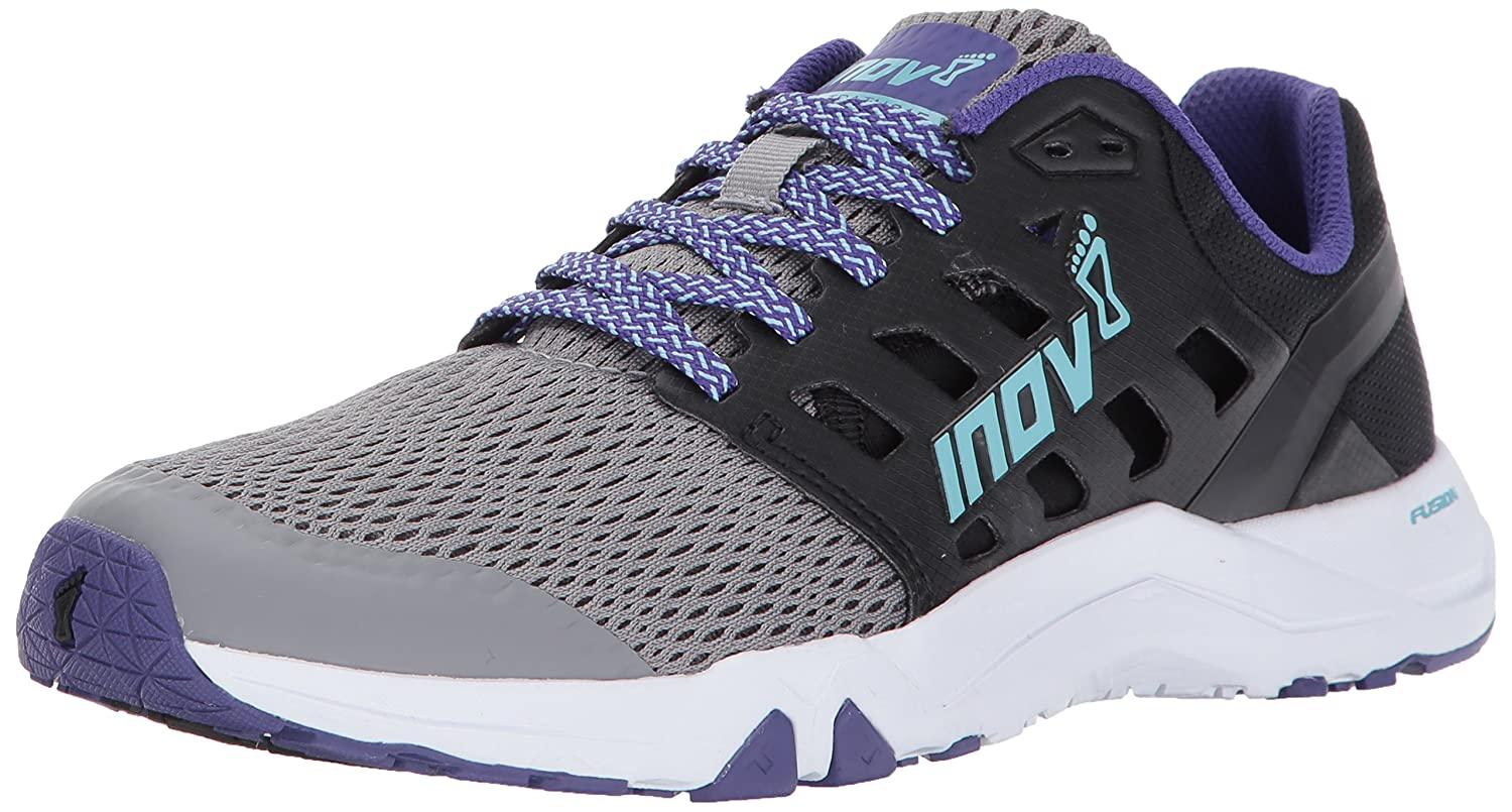 Inov-8 Women's All Train 215 Cross-Trainer Shoe B01N6HNPC8 9 D US|Grey/Black/Purple