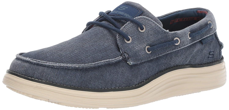 Skechers Status 2.0 Lorano, Chaussures Bateau Homme Bleu (Navy Canvas Nvy) 39.5 EU
