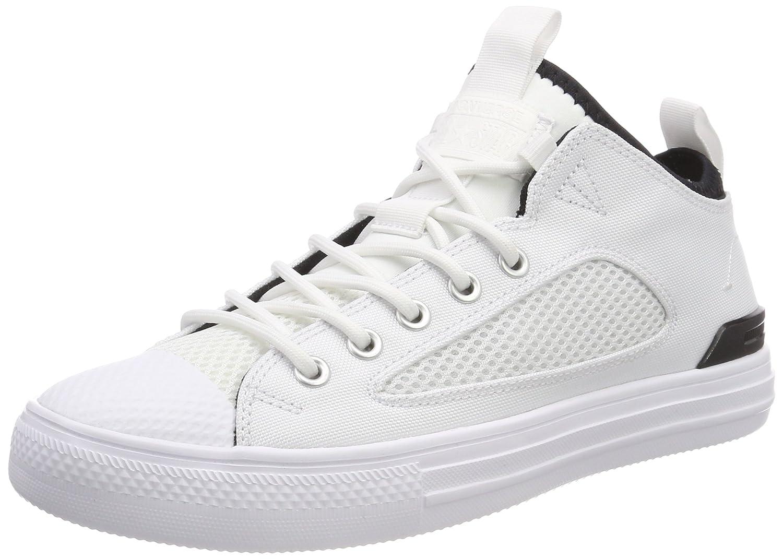 Converse CTAS Ultra Ox White/Black, Zapatillas Altas Unisex Adulto 42 EU|Mehrfarbig (White/White/Black 102)
