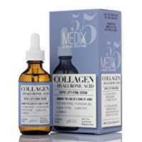 Medix 5.5 Collagen Serum for Wrinkles, Dark Spots, Fine Lines, and dry skin. Anti-aging face serum with Hyaluronic Acid, Bulgarian Rose, and natural extracts. 1.75 Fl Oz (52 ML)