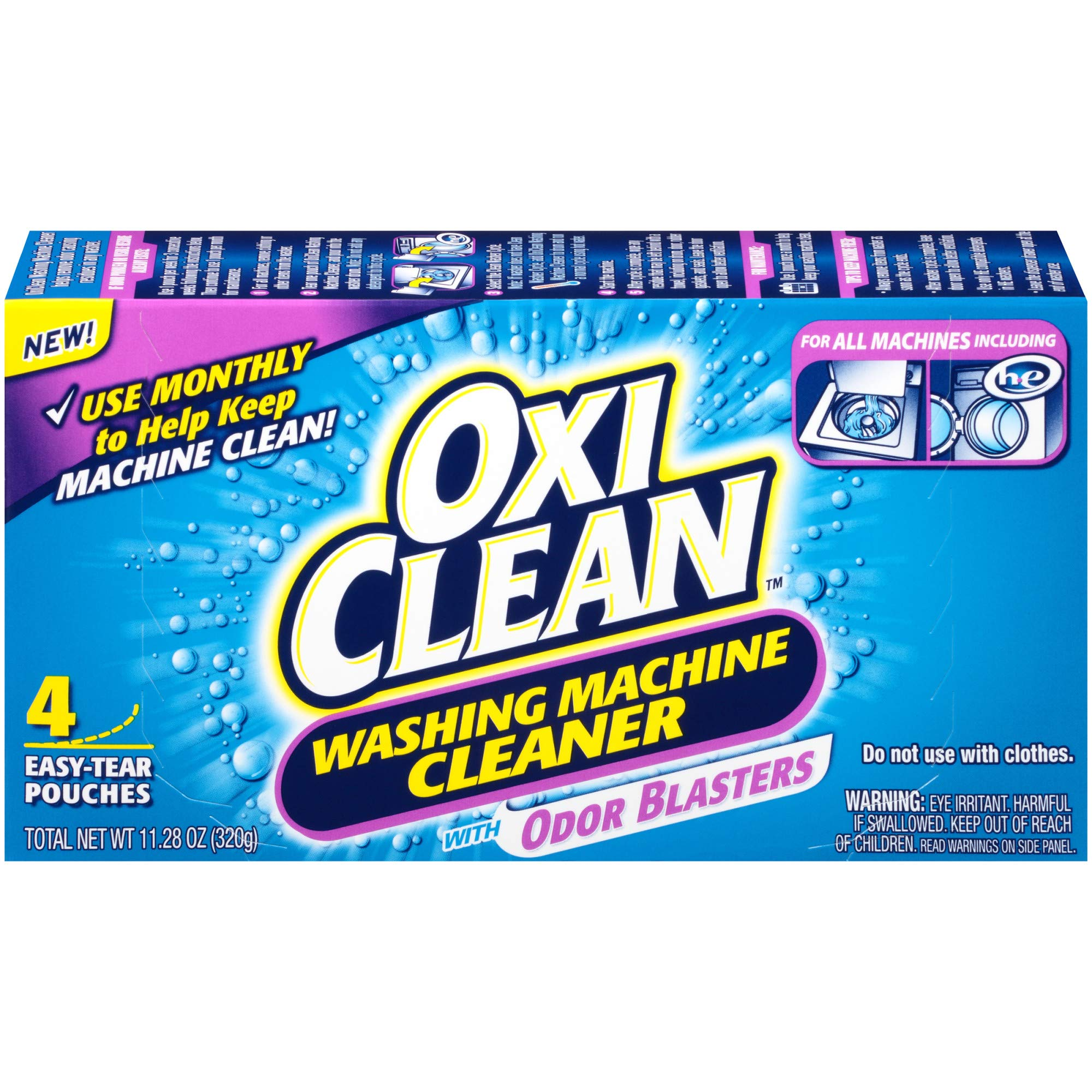 OxiClean Washing Machine Cleaner with Odor Blasters, 4 Count product image