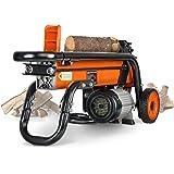 SuperHandy Log Splitter Electric Portable 6 Ton Ram System 1-3/4eHP 15Amp 1500Watt Motor Horizontal Full Beam with Steel Wedg
