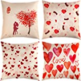 TUPARKA 4 Pcs Mother's Day Throw Pillow Covers Pillow Case Cover 18 x 18 Inch Home Cushion Decoration