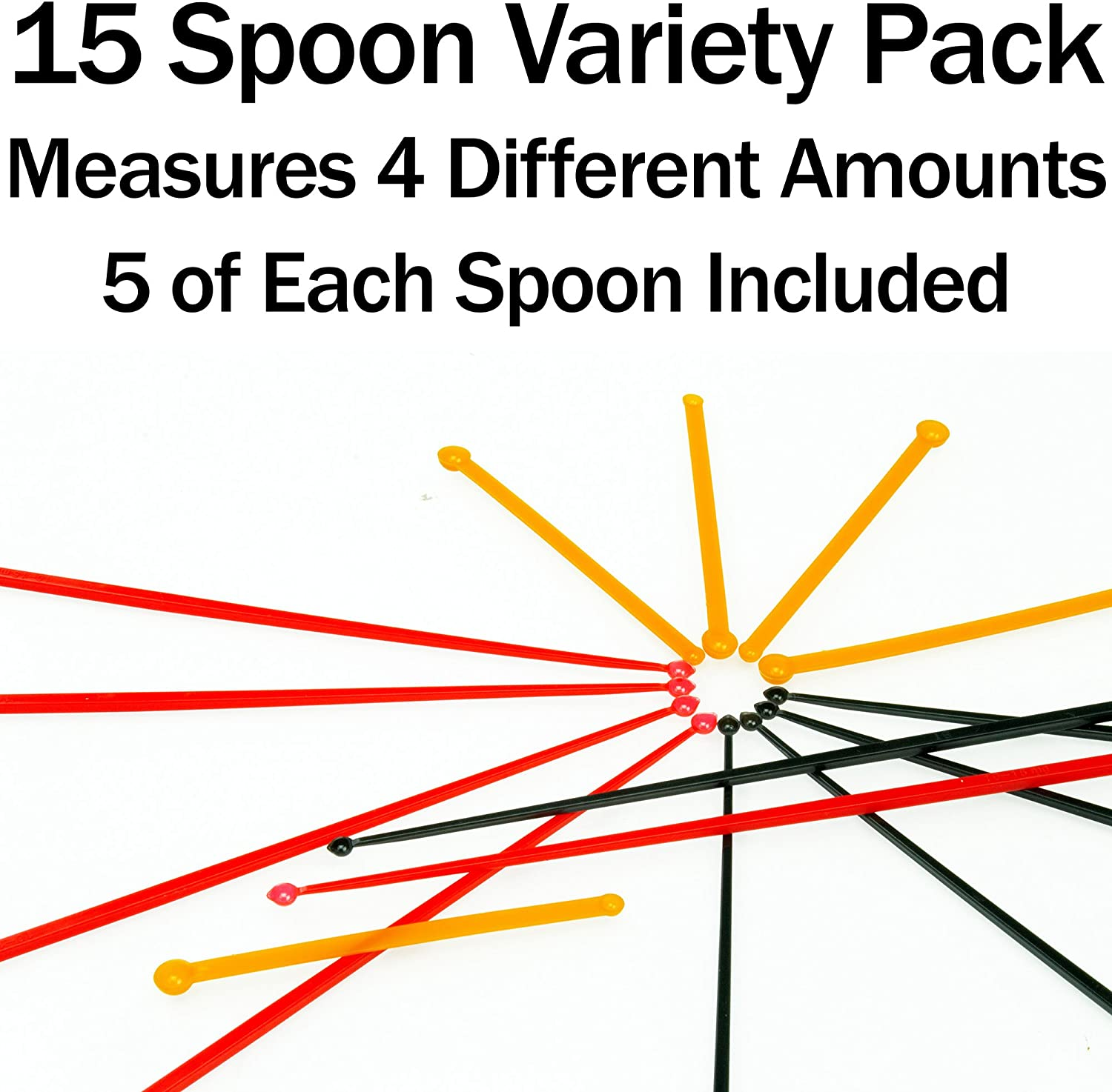 Sturdy For Easy 30 Mg Measuring Spoons 15 Pack Mess-Free Nootropic Supplement Powder Measurement 3 Sizes x 5 of Each Size Tiny Spoon. SuperDosing Static-Free Micro Scoop Variety Pack 6 Milligram