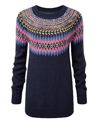 Cotton Traders Womens Ladies Fancy Fair Isle Jumper Raglan Sleeves ...