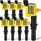 Motovecor Ignition Coil Pack DG511 Straight Boot 15% More High Energy for Ford F150 F-150 F250 Expedition Explorer Mustang Li