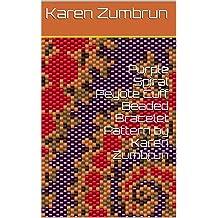 Circles  Peyote Cuff Beaded Bracelet Pattern by Karen Zumbrun