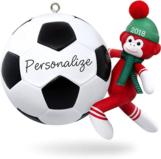 Hallmark Keepsake 2019 Soccer Star Penguin Dated DIY Personalization Ornament