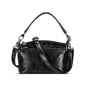dee0ac195c Lecxci Womens Small Multi Zipper Leather Crossbody Bag Top-Handle Handbags  Travel Purses For Women (Black)  Amazon.in  Bags