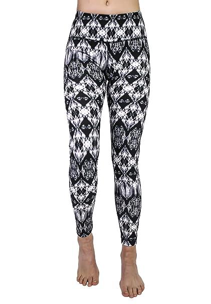 57313e768c12d6 90 Degree By Reflex Performance Activewear - Printed Yoga Leggings - Cavern  Black Grey - XS