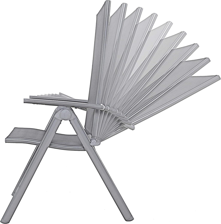 Chicreat - Silla de camping plegable de aluminio con respaldo alto ...