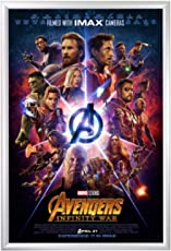 """SnapeZo Movie Poster Frame 27x40 Inches, Silver 1.2"""" Aluminum Profile, Front-Loading Snap Frame, Wall Mounting, Premium Series for One Sheet Movie Posters"""
