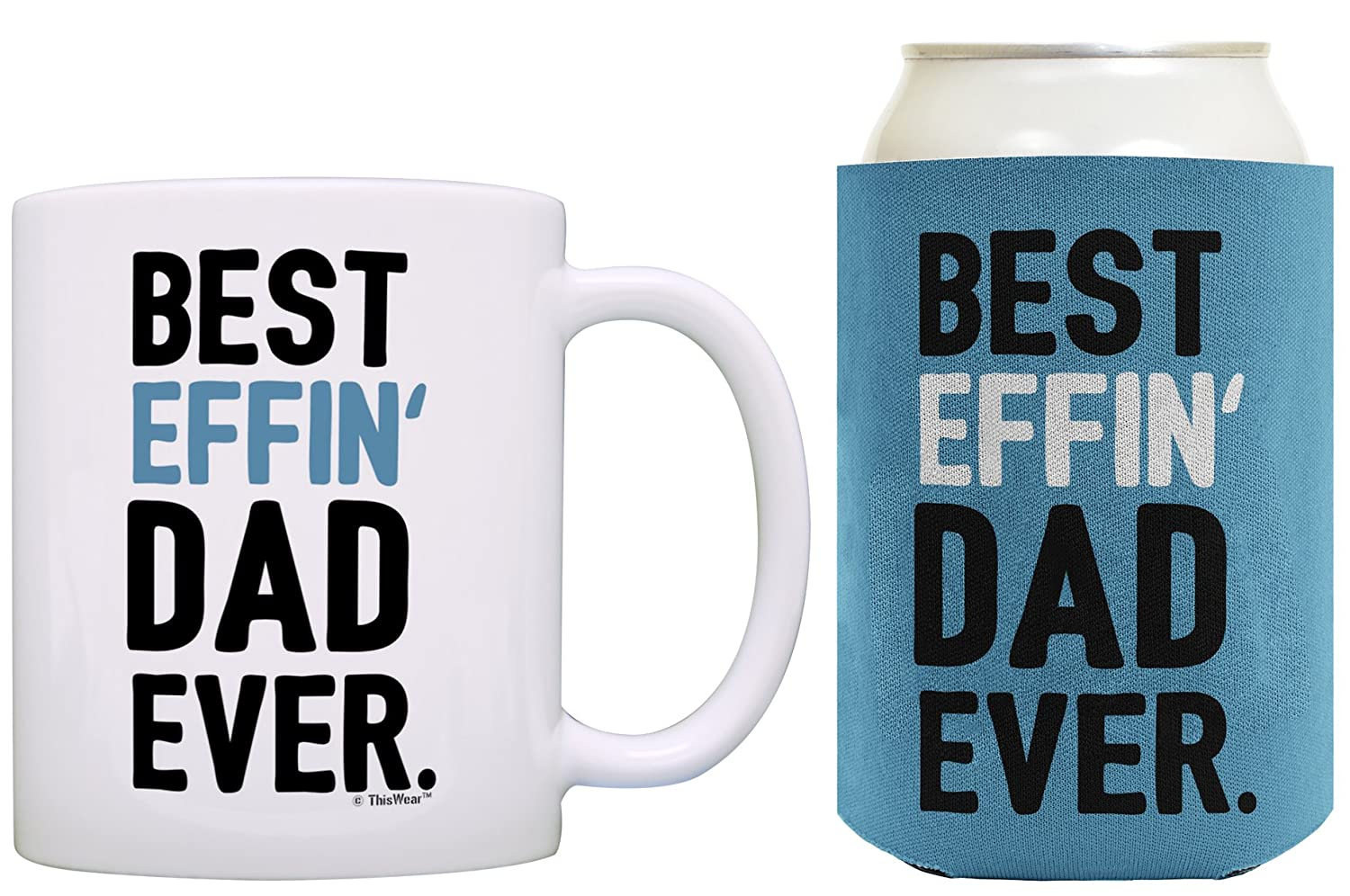 Birthday Gifts For Dad Best Effin Ever Fathers Day Gift Coffee Mug And Can Coolie Drink Cooler Bundle Pack