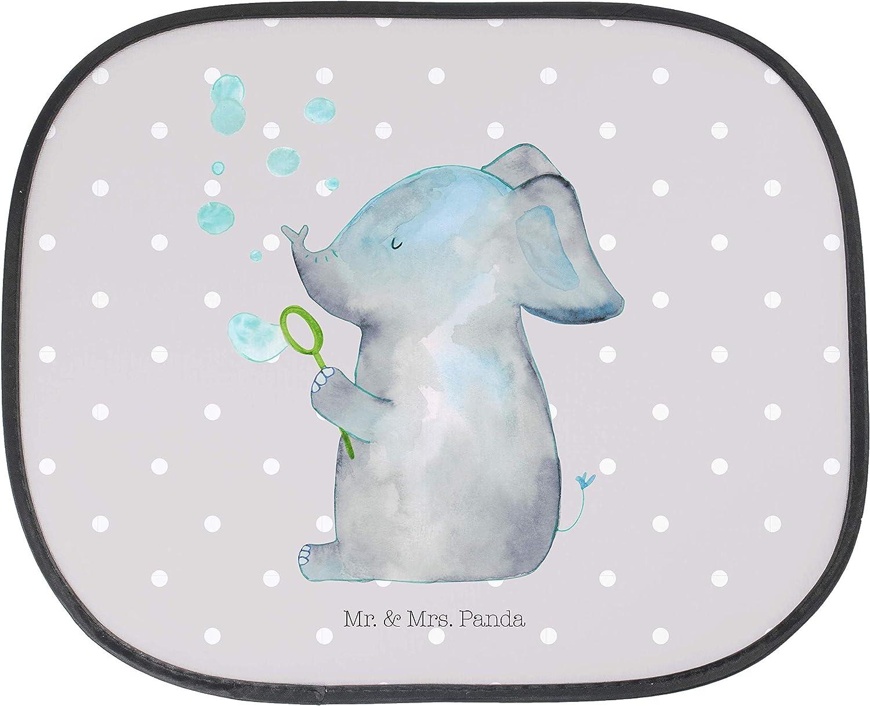 /& Mrs Mr Panda PKW Kinder Auto Sonnenschutz Elefant Seifenblasen Farbe Grau Pastell