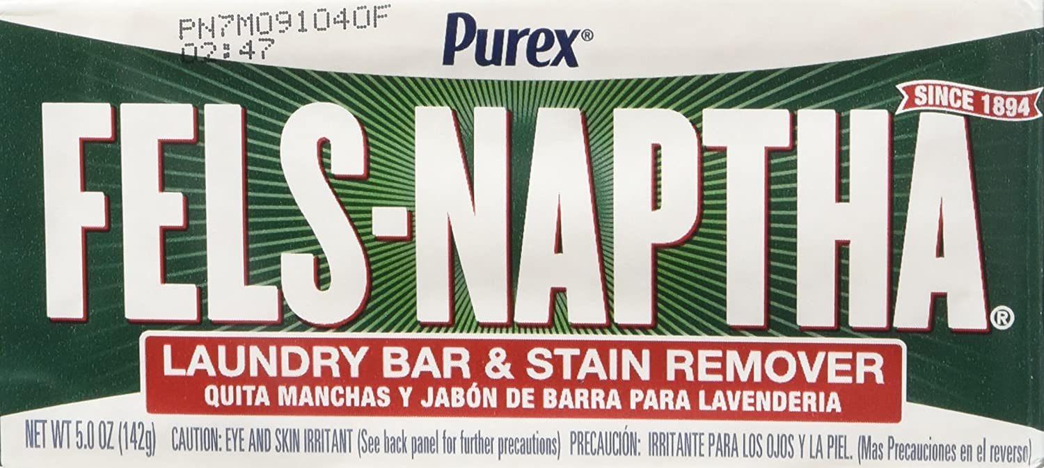 Amazon.com: Fels Naptha Laundry Bar and Stain Remover, 5.0 Ounce (4 Bars) by Fels Naptha: Health & Personal Care