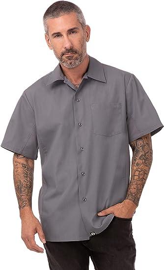 Chef Works - Camisa con Botones para Mujer, L, Gris, 1: Amazon.es: Bricolaje y herramientas