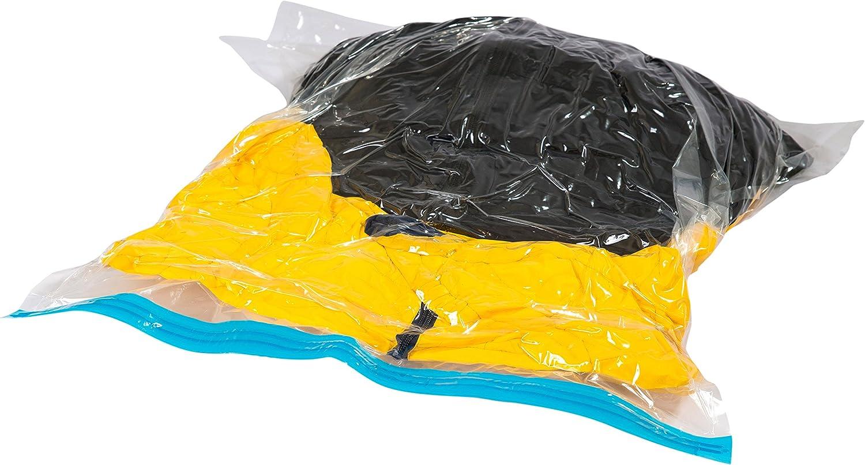 Reisebeutel backpacking Rucksack 5er Set Reisevakuumbeutel Vakuumbeutel Kompressionsbeutel extra stark f/ür Kleidung ohne Staubsauger oder Pumpe zum Aufrollen rollen und hochwertig