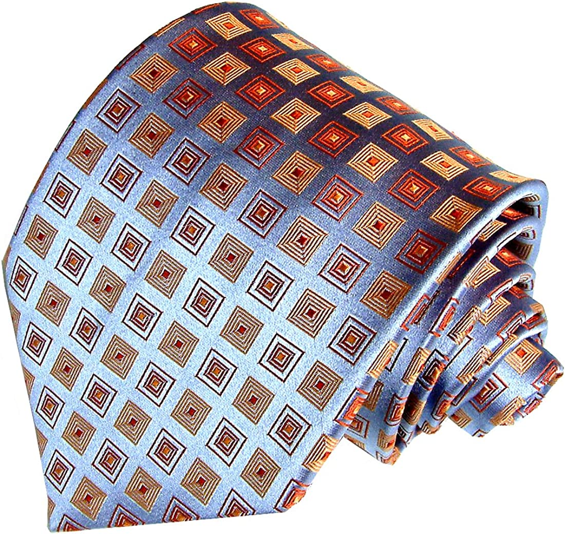 Karo pestarti leganti seta 84015 tovaglia celeste Bronzo cravatta 100/% LORENZO CANA