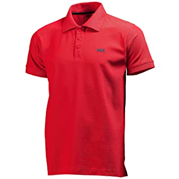 Helly Hansen New Driftline Polo - Polo para hombre, color rojo ...