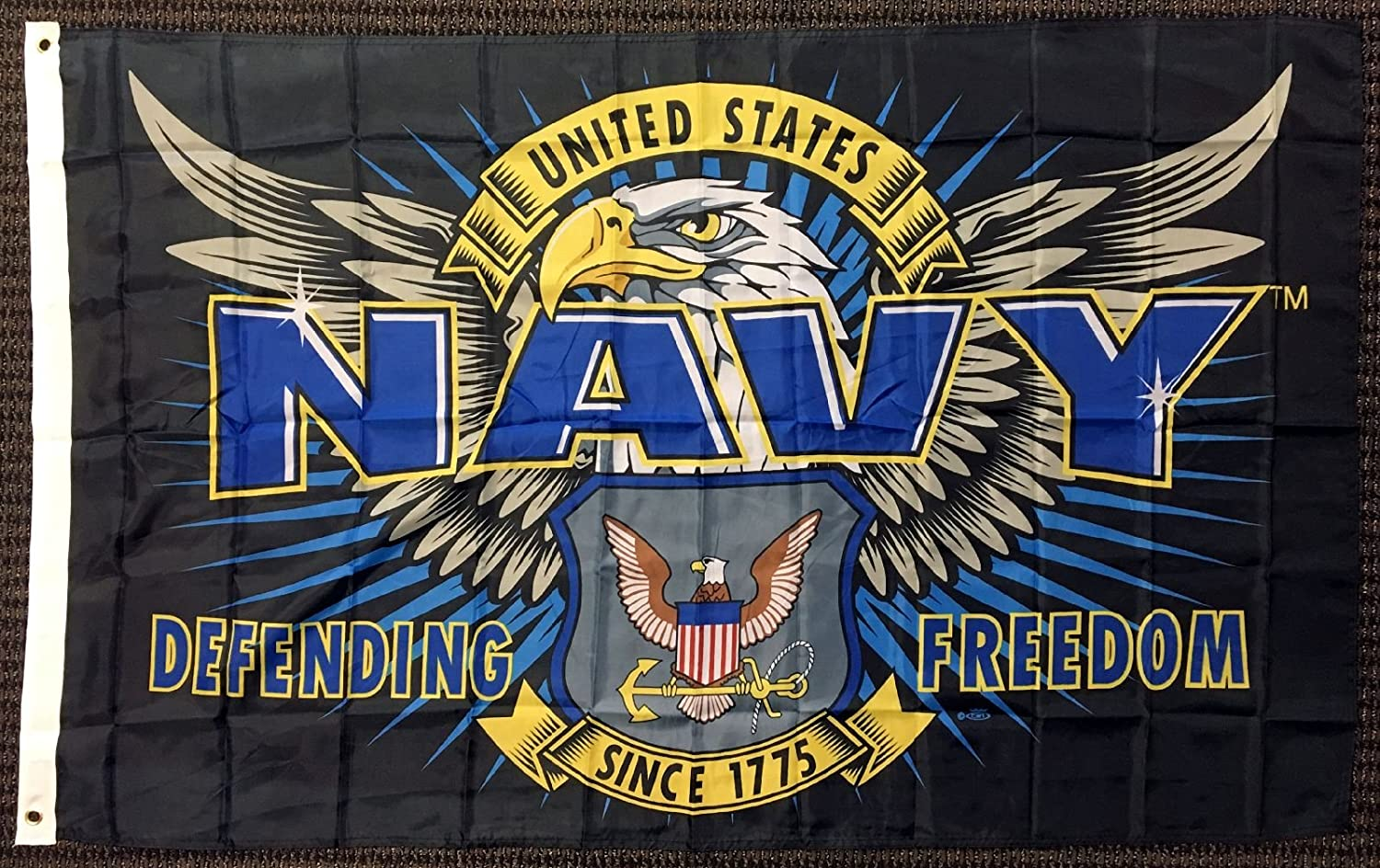 Capsmith 3x5 Mission First United States US Navy Defending Freedom Flag Military USN USA