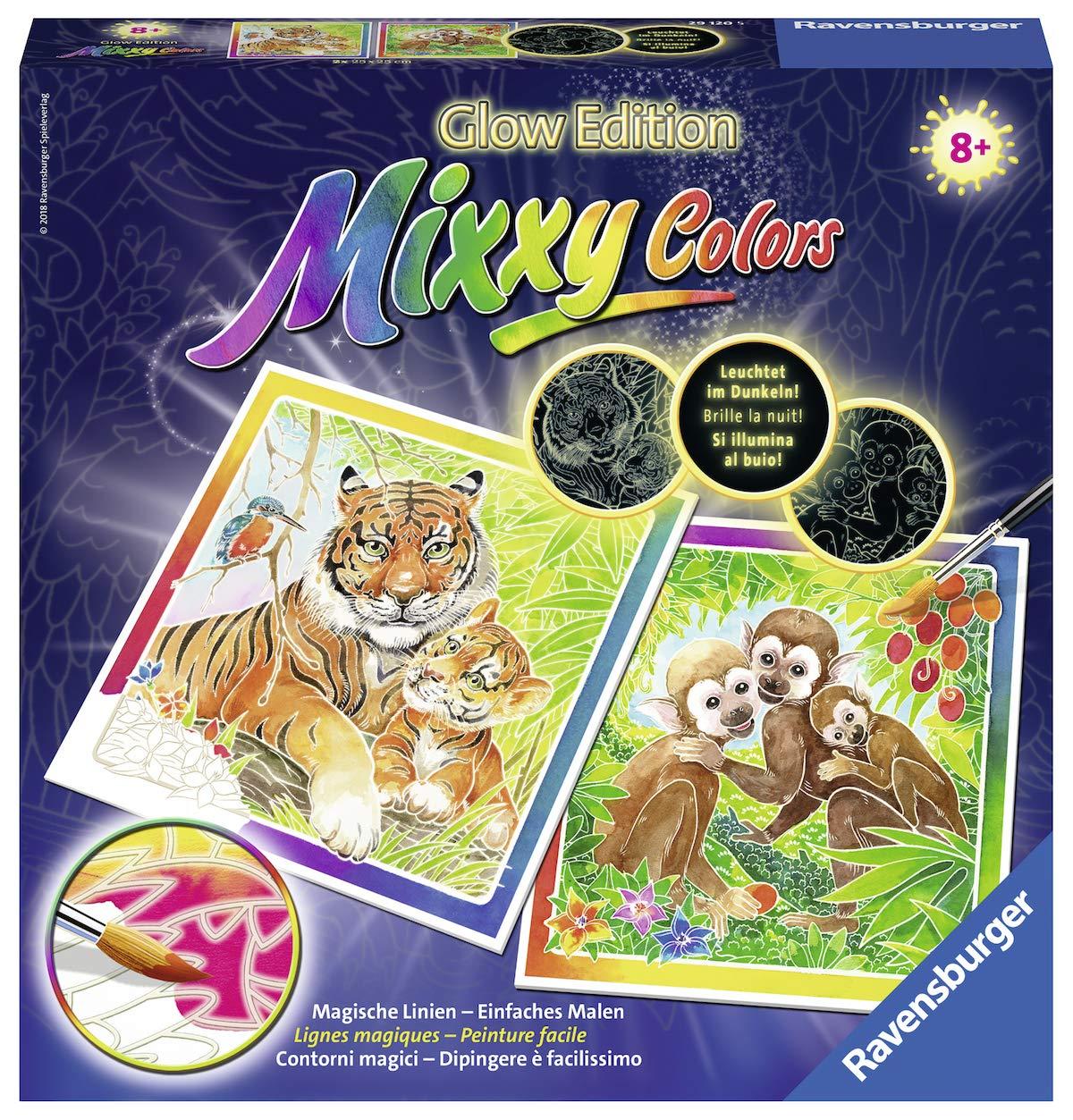 Ravensburger 29120 Mixxy Colors Jeu de 4 Figurines de la Jungle Glow Edition Multicolore 25 x 25 cm Ravensburger Spieleverlag