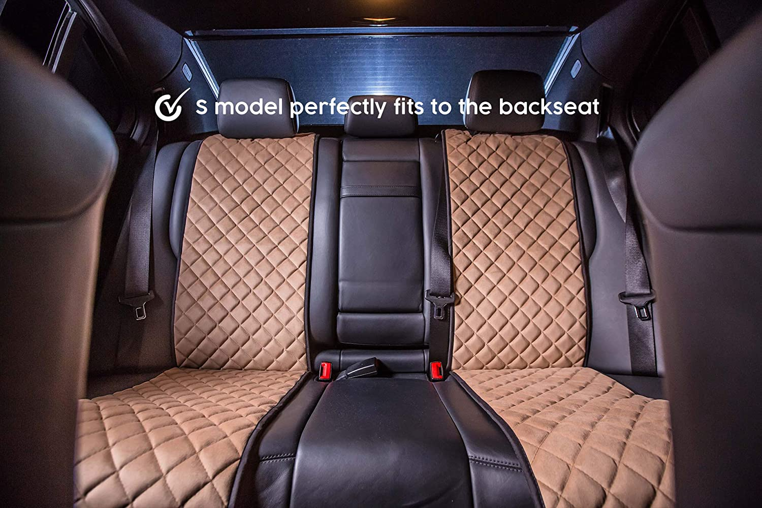 100/% Handcrafted Car Seat Protectors Minivans Trucks 2-pc | Premium Quality С СANTRA S-Model red SUVs Front Car Seat Covers Compatible with 90/% Cars
