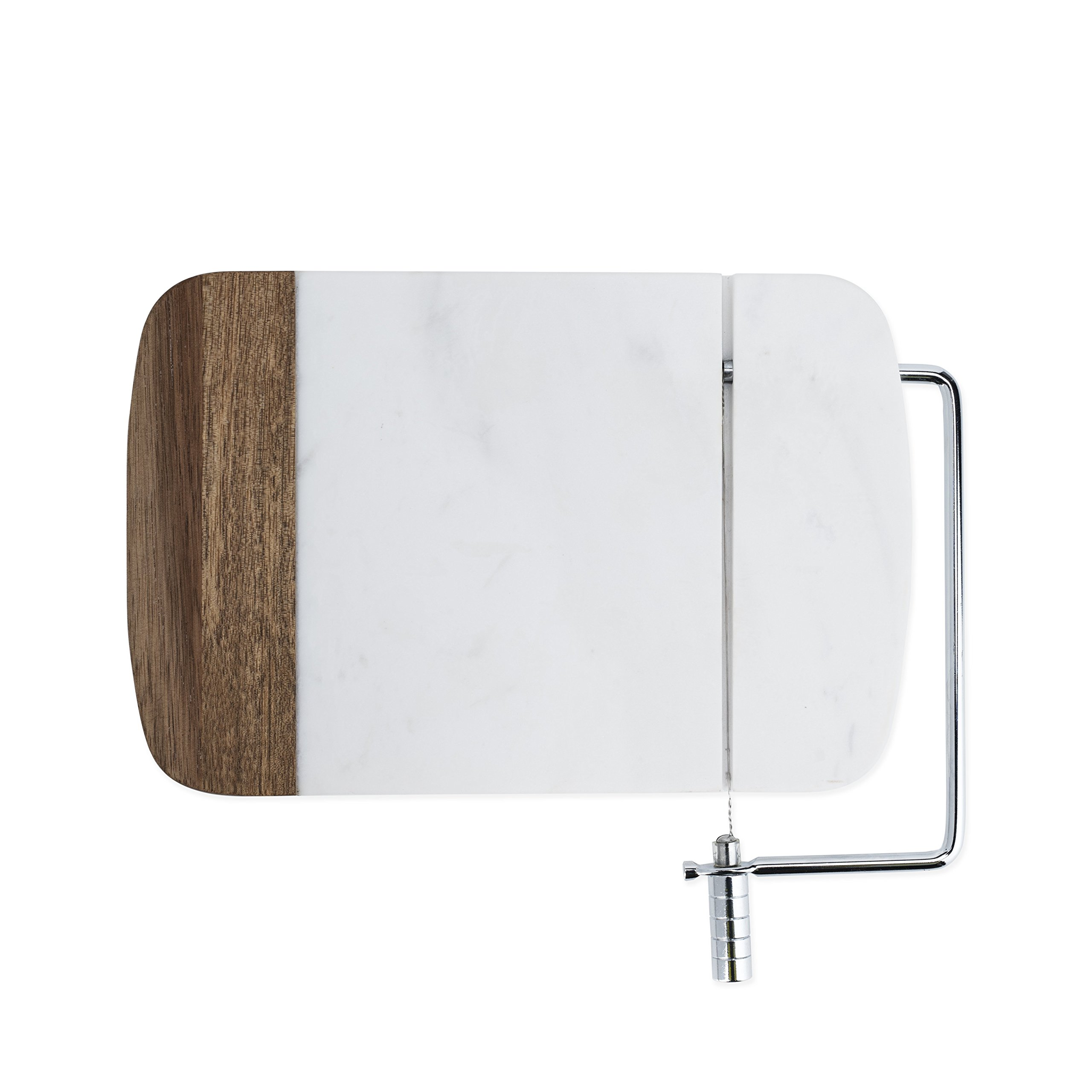 Twine 7671 Rustic Farmhouse: Marble & Acacia Wire Cheese Slicer