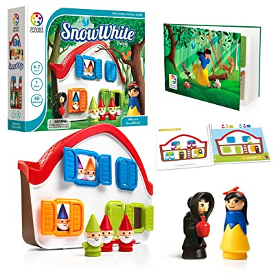 SmartGames Snow White - Deluxe Cognitive Skill-Building Puzzle Game Featuring 48 Playful Challenges for Ages 3+: Toys & Games