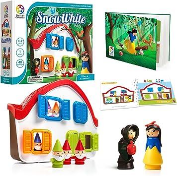 SmartGames Snow White – Juego de puzle de construcción de habilidades cognitivas de lujo con 48 retos divertidos para edades 3 +: Amazon.es: Juguetes y juegos