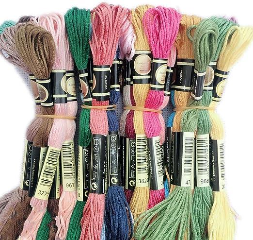 Hilo de punto de cruz de algodón para bordar hilos, costura y ...
